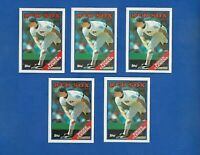 1988 TOPPS BASEBALL 5 CARD LOT #70 ROGER CLEMENS NM-MT BOSTON RED SOX