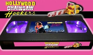Hollywood Chainsaw Hookers (1988) - Retro VHS Lamp +Remote Control - 80s Horror