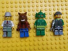 Lego Monster Fighters Minifigures Swamp Creature, Werewolf. Doctor Rodney Lot