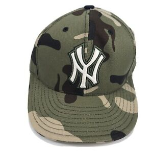 Rare Mitchell & Ness Camo New York Yankees Cooperstown Hat Cap Size 7 1/8
