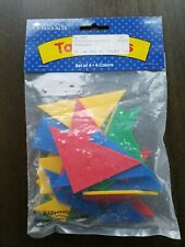 Math Manipuatives Tangrams Learning Resources Educational Set Of 4 and 4 Colors