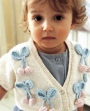 Knitting Pattern -Perfect Spring/Summer Baby Girls Cardigan (4 sizes) PO100
