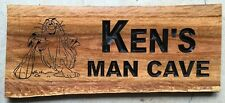 Personalised MAN CAVE Ironbark Slab Timber Sign 650mm Long