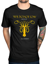 Official Mens Game of Thrones House Greyjoy T-Shirt We Do Not Sow Jon Snow Arya