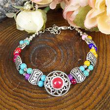 2017 New Women Beautiful fashion jewelry Tibetan silver beads bracelet best gift