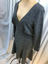 Free People Peplum Dress Sz L Large Black Combo Retail $118 NWT Vintage