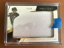 2018 Panini Immaculate Collection Gleyber Torres Yankees Jumbo Relics #IJ-GT RC