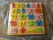 Hape  number block (new sealed not Boxed)