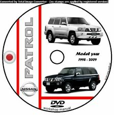 WORKSHOP MANUAL MAINTENANCE NISSAN PATROL GR GU Y61 RD28 ZD30 MY 1998 - 2009 CD