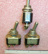 QTY (2) MS35058-25 JBT SPST MIL-SPEC TOGGLE SWITCHES NOS