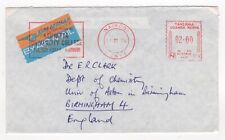 1978 KENYA KUT Meter Mail Cover NAIROBI to BIRMINGHAM GB Slogan