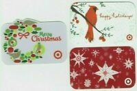 Target Gift Card Christmas LOT of 3 / Die-Cut Wreath, Cardinal - 2007 - No Value