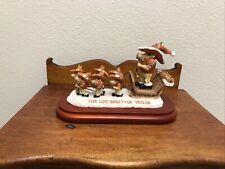 University Of Texas mascot holiday sleigh tabletop figurine Slavic Treasures