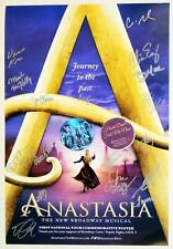 HoliBay! ANASTASIA Tour Cast Signed Poster + BC/EFA Buttons