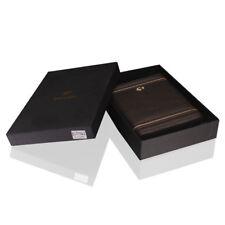 COHIBA Black Leather Cedar Lined Cigar Case 6 Tube Humidor With Humidifier