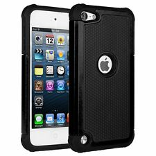 "4"" Apple iPod Touch 5 6 Gen Hybrid Impact Shock Proof Hard Back Case Cover"