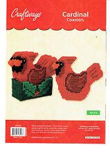 CAARDINAL  COASTER  SET    Plastic Canvas    PATTERN   (#2835)