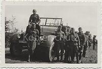 Soldaten LKW Besatzung WK2 Mannschaftstransporter Kennung Foto 10x15cm
