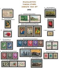 TURKEY 1972, COMPLETE YEAR SET, INCLUDES OFFICIAL AND DEFINITIVE STAMPS, MNH