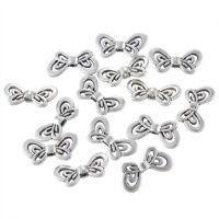 50 älter Silber Metallperlen Beads Spacer Charms Schmetterling 17.5x9mm
