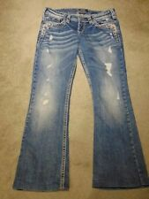 Silver Tuesday Low Boot Flap with bling and embroidery Women's Jeans  W29 L33