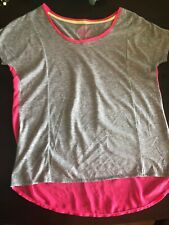 SO Authentic American Heritage Womens Gray & Neon Pink Top Size XS