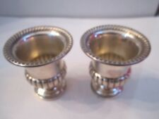 "2 STERLING SILVER CUPS - NUMEROUS HALLMARKS - 2 3/4"" TALL - 102 GRAMS WEIGHTED"