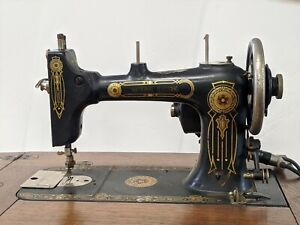 Vintage National Electric Sewing machine - original ~1920's - with cabinet
