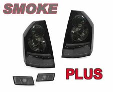 DEPO Smoke / Black Rear Tail Lights + Side Marker Lights For 08-10 Chrysler 300C