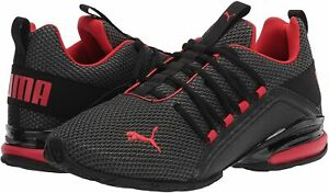 Men's Shoes PUMA AXELION LS Athletic Training Sneakers 19438401 BLACK / RED