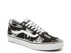 VANS Era IconicScript LOGO MIX Script Black & White Low Canvas Unisex Shoes NWT