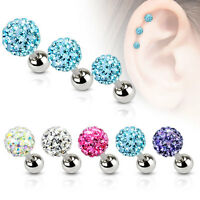 1 Pc Ferido Ball Top Surgical Steel Helix Tragus Cartilage Barbell Stud Earring