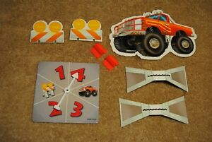 Old 1999 Toy Story 2 Cone Crossing Board Game Parts Spinner and More No. 41947