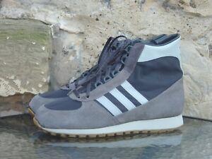 Vintage 1980s Adidas Adimed High ? UK7 Made In West Germany OG Rare Grey