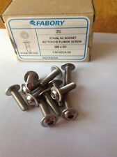 6mm M6 x 20mm 20 STAINLESS FLANGED BUTTON HEAD BOLTS HEXAGON (10 PACK) FLANGE
