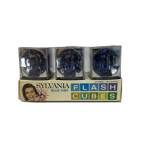 Vintage NEW Old Stock SYLVANIA Blitz Wurfel Blue Dot Flash Cubes