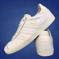 Adidas Gazelle Casual Women's Shoes Size Uk 4 White Trainers EUR 36.5 Leather