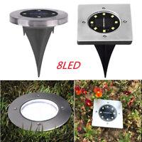 8-LED Buried Solar Power Light Under Ground  Outdoor Path Way Garden Decking Hot