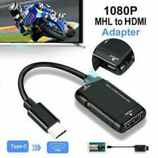 UK Black USB-C MHL Type C to HDMI HDTV Cable Adapter for Android Phone Tablet