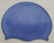 Grade A de Luxe Uni Extensible Silicone Natation Bleu Marine Bonnet Adultes D1