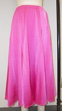 HOT PINK MED-WEIGHT SPANDEX GORED SKIRT WITH FISHLINE HEM -STAGE COSTUME-SIZE M