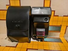 Canon Speedlite 300EZ Shoe Mount Flash For EOS SLRs with case, fully working