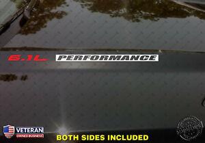6.1L PERFORMANCE Hood Vinyl Decals Fits: Jeep Dodge Hemi SRT8 Chrysler INV