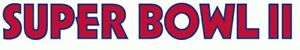 Green Bay Packers Super Bowl II Logo decal