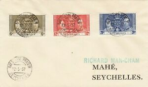 SEYCHELLES : KING GEORGE VI CORONATION, FIRST DAY COVER (1937)