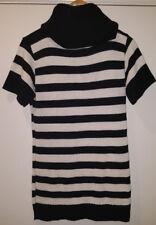 Ladies Black & white stripe Rollneck sweater by ASOS, size Large