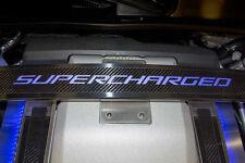 "123025-RED  2006-2015 Cadillac CTS-V Carbon Fiber ""SUPERCHARGED"" Strut Bar Trim"