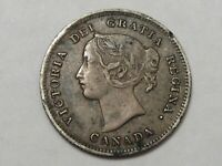 Better-Grade 1897 Silver Canadian 5 Cent Coin. Queen Victoria.  #44