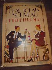ancien affiche Beaujolais Nouveau Ferraud 69 dessin JF Routier style Art Deco B