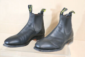 R M WILLIAMS WOMENS SIZE 5HCF 7 BLACK STOCKMAN'S COWBOY BOOTS HARDLY WORN